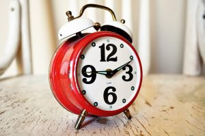 Time to stop procrastinating and clean your house - clock is ticking