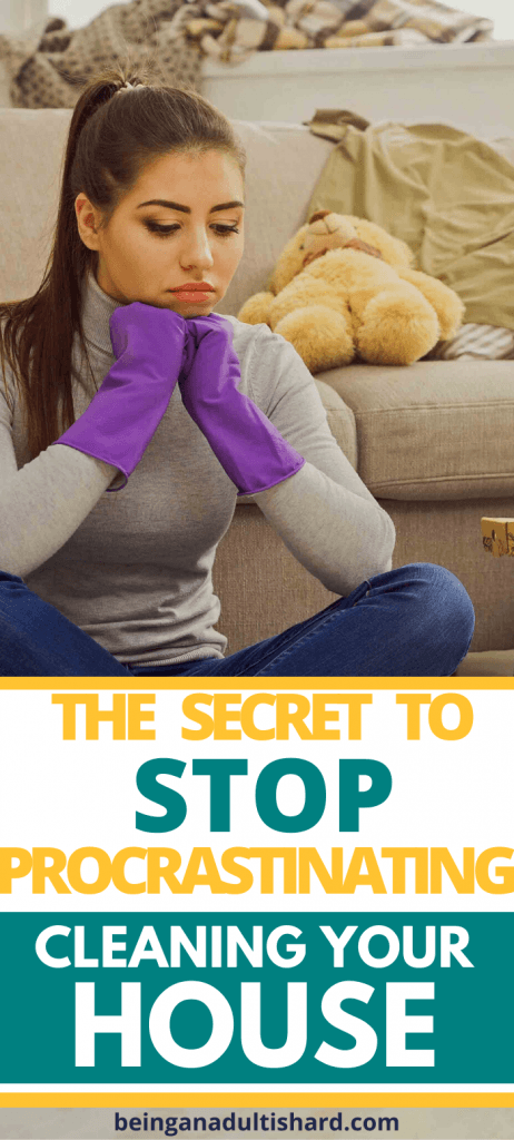 Do you procrastinate cleaning your house? The secret to stop procrastinating and clean your house. Just do it!