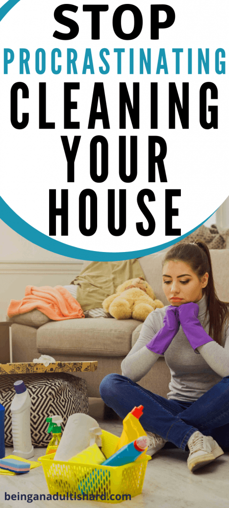 How to not procrastinate cleaning your house? Tips and my secret to stop procrastinating and clean your house. Don't procrastinate. Just do it!