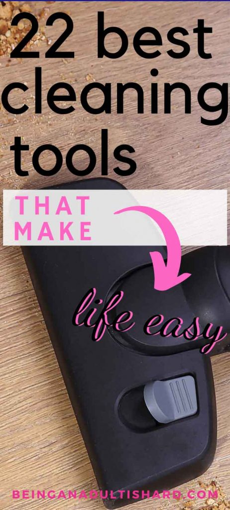 22 cleaning tools, devices, and gadgets to save you time and energy and make cleaning your house so much easier. Best house cleaning tools to clean your messy house easy and fast.