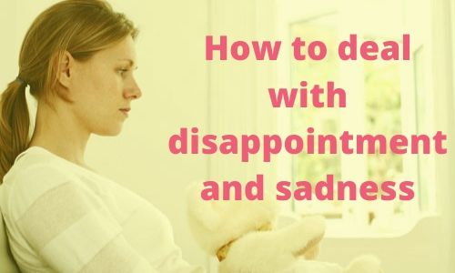 Disappointed woman who is sad about life